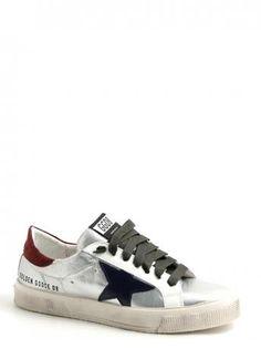 Golden Goose-sneakers argento/blu star-sneakers silver/blue star-Golden Goose shop online