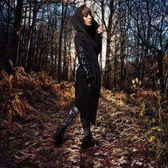"CRMC X @vividblackartistry X @viewfromthecoffin ""TEM.ple O.mnium H.ominum P.ads AB.ba"" Robe & CRMC X @wirosatan ""Aske Til Aske"" Leggings Available at www.crmc-clothing.co.uk | WE SHIP WORLDWIDE Models - @izabellaraejaxxofficial Photography - @adrianianmcnab 👽 USE DISCOUNT CODE - CYBERMONDAY - FOR A FURTHER 25% OFF YOUR FULL ORDER 👽 #darkwear #need #blackwear #want #cozy #altfashion #alternative #niche #fashionstatement #fashiongram #fashionista #instastyle #stylegram #iloveblack"