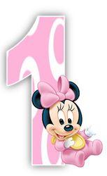 Alfabeto de Minnie Bebe con fondo rosa. | Oh my Alfabetos!