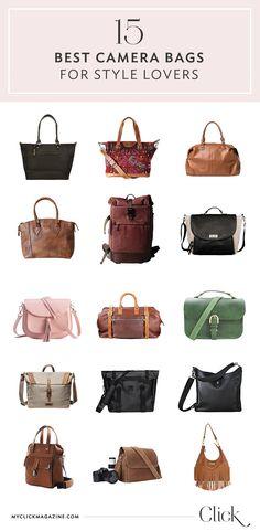 Stylish Camera Bags:  Need a new camera bag? Here's 15!   Click Magazine.