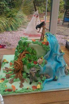 Pocahontas Disney Birthday cake made by Hannah Mestel Mestel Mestel Mestel Mestel Mestel Currin Amazing! Pocahontas Cake, Pocahontas Birthday Party, Disney Princess Birthday Party, Disney Pocahontas, Fancy Cakes, Cute Cakes, Movie Cakes, Fantasy Cake, Disney Cakes