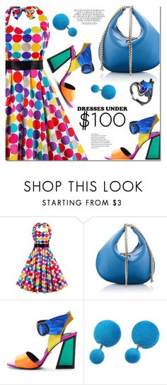 """Dresses Under $100"" by ansev ❤ liked on Polyvore featuring Kat Maconie and Whiteley"