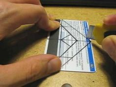 make an iphone stand out of an old plastic credit card / membership card