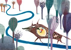 Pulgarcito (Children's Illustration) by Paloma Corral, via Behance