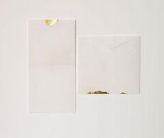 Handmade paper envelopes 'The Golden Set' by Hong Kong artist and designer Furze Chan