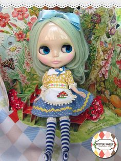 Yellow Alice Dress SET for Blythe