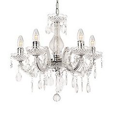 Litecraft - Marie Therese 5 Light Dual Mount Chandelier - Chrome