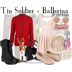 Disneybound Soldier and Ballerina Fantasia 2000 Disney Bound Outfits, Couple Outfits, Kid Outfits, Summer Outfits, Disney Inspired Fashion, Disney Fashion, Nerd Fashion, Fandom Fashion, Fashion Outfits