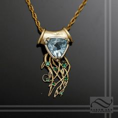 Spring Emerges - 14k gold with topaz and Emeralds