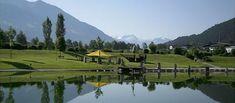 Badesee in Schlitters © Badeseegesellschaft Golf Courses, Mountains, Nature, Travel, Mayrhofen, Amusement Parks, Communities Unit, Naturaleza, Viajes