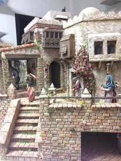 2013-09-07 22.49.07 Fontanini Nativity, Diy Nativity, Japanese House, Cob Houses, Miniatures, Mansions, House Styles, Christmas, Christmas Villages