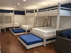 Our Beach House bunk beds are made from the best materials and delivered and setup at your home. We deliver across the country and have set up many custom bunk beds from California to New York. Queen Bunk Beds, Bunk Bed Rooms, Bunk Beds Built In, Bunk Beds With Stairs, Cool Bunk Beds, Kids Bunk Beds, Adult Bunk Beds, Bunkbeds For Small Room, Corner Bunk Beds