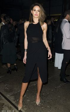 Toned and trim: Jesinta Campbell ensured the fruits of her gruelling new exercise regimen were on display as she led the glamour at the Witchery fashion launch in Sydney on Tuesday evening