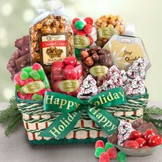 Holiday Snack Basket.  See more at www.pro-gift-baskets.com!