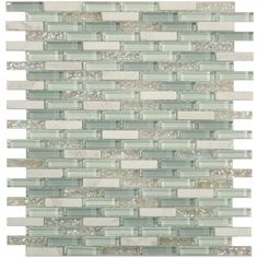"""Sheet size: 11"""" x 11 1/4"""" Tile Size: 3/8"""" x 1 5/8"""" Tiles per sheet: 156 Tile thickness: 1/4"""" Grout Joints: 1/8"""" Sheet Mount: Mesh Backed Sold by the sheet"""