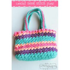 "<center><b>My Merry Messy Life</b>...<b><a href=""http://mymerrymessylife.com/2012/03/crochet-seed-stitch-purse-free-crochet-pattern.html"" target=""_blank"">Crochet Seed Stitch Purse</a></b>"