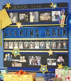 #Graduation memories :) Love adding the school pictures from kindergarten through middle school and high school. Great decoration for a graduation party.