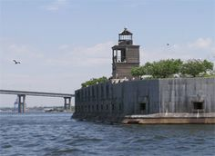 Fort Carrol Lighthouse  Baltimore Harbor, Maryland