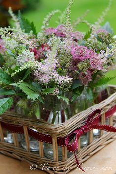 Flowers from a cutting garden by Tea On The Terrace - Kat Weatherill, via Flickr