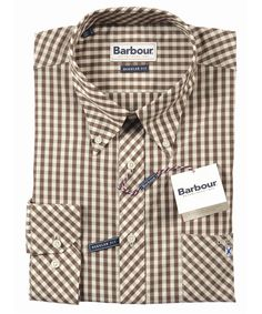 Barbour Mens Richmond Shirt - Brown Check