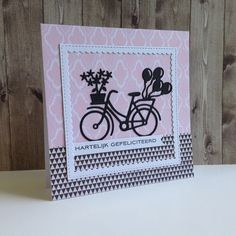 Bicycle Cards, New Panel, Marianne Design, Stamping Up, Diy Cards, Stampin Up Cards, Beautiful World, More Fun, Birthday Cards