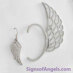 Dramatic Earring Set - Silver (Lt Ear Cuff & Earring Set) $12.95