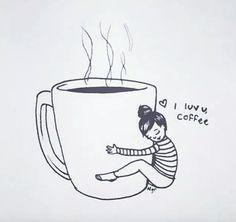 I luv u coffee Coffee Talk, Coffee Girl, Coffee Is Life, I Love Coffee, Coffee Break, My Coffee, Coffee Drinks, Morning Coffee, Coffee Cups