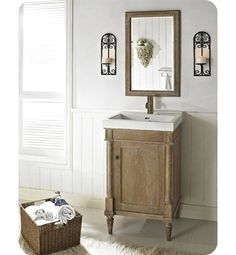 Decor Planet vanity - Rustic chic. Not sure if you'd love this one but wanted to present the option. It's very unique and relaxed.