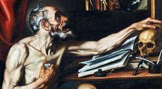 Luis Tristán - Saint Jerome penitent in his study (Detail)