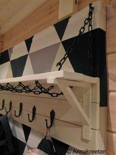 Naulakko - Coat rack - DIY - Kopallinen inspiraatiota