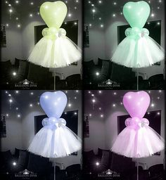 42 Trendy Ideas For Baby Shower Party Decorations Tulle Balloons Tulle Centerpiece, Balloon Centerpieces, Balloon Decorations, Birthday Decorations, Baby Shower Decorations, Balloon Ideas, Ballerina Centerpiece, Ballerina Party Decorations, Parties Decorations