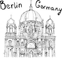 berlin coloring page