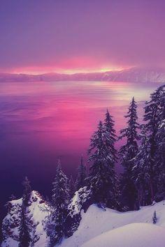 Winter Sunrise at Crater Lake, Oregon