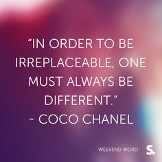 wise words from a fashion icon Cute Quotes, Great Quotes, Quotes To Live By, Classy Quotes, Unique Quotes, Random Quotes, Daily Quotes, Friday Fashion Quotes, Citation Coco Chanel