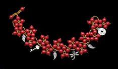 Браслет Рябиновый из коралла, Золотой, Черный Pearl Bracelet, Pandora Charms, Charmed, Brooch, Pearls, Bracelets, Jewelry, Beading, Ideas