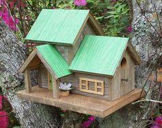 De cèdre rustique Birdhouse «Duplex»