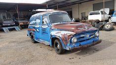56 Ford F100, 56 Ford Truck, Hot Rod Trucks, Cool Trucks, Day Van, Panel Truck, Ford Classic Cars, Vintage Trucks, Buses