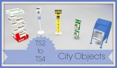 TS2 to TS4 City Objects at Dinha Gamer via Sims 4 Updates Check more at http://sims4updates.net/objects/decor/ts2-to-ts4-city-objects-at-dinha-gamer/
