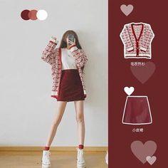 Korean Girl Fashion, Korean Fashion Trends, Ulzzang Fashion, Korean Street Fashion, Kpop Fashion Outfits, Girls Fashion Clothes, Cute Fashion, Look Fashion, Korean Casual Outfits