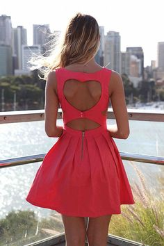 New Ladies Waist Open Heart Back Side Cut Out Skater Dress Sleeveless Pleated Skater Dress... Spring 2013 Collection Coming soon x