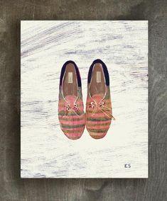 Summer shoes art print