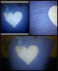 Capazo pintado corazón