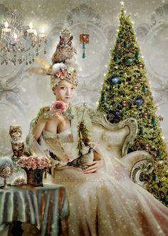 Marie Antoinette inspired Christmas