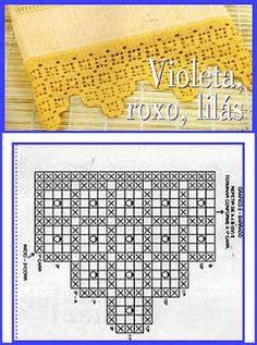Risultati immagini per miria croches e pinturas Crochet Dollies, Crochet Lace Edging, Crochet Motifs, Crochet Borders, Crochet Trim, Love Crochet, Crochet Stitches, Knit Crochet, Crochet Patterns