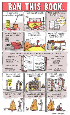 A comic celebrating Banned Books Week