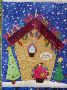 """Welcome to the North Pole Christmas Quilt - Xmas Lights shop, """"Ellie's Bright Ideas"""" for my lovely daughter Ellie ..."""