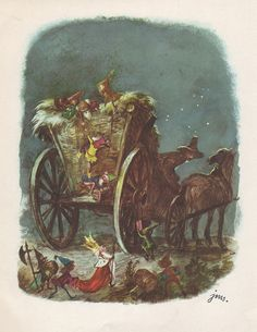 """""""O krasnoludkach i sierotce Marysi"""" by M. Konopnicka. Illustration by J. M. Szancer"""