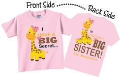 Hey, I found this really awesome Etsy listing at https://www.etsy.com/listing/161891198/im-going-to-be-a-big-sister-shirts-and