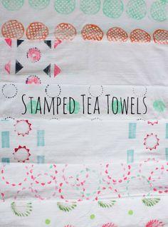 Stamped Tea Towels | Design Improvised #AnthroEvents