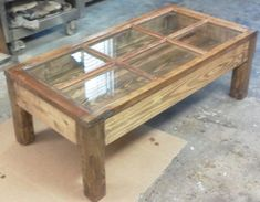 Hand made shadow box coffee table from reclaimed by DexterBurkes, $850.00